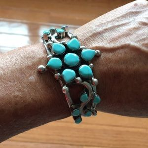 Sterling silver & turquoise cuff bracelet